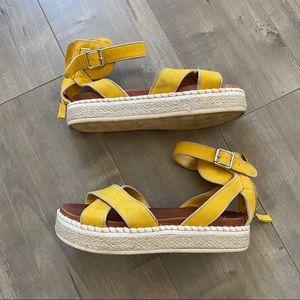 MIA yellow sandals